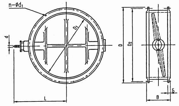 圓風門結構圖